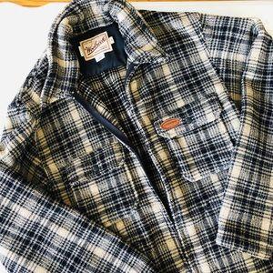 Woolrich • men's zip up plaid fleece jacket